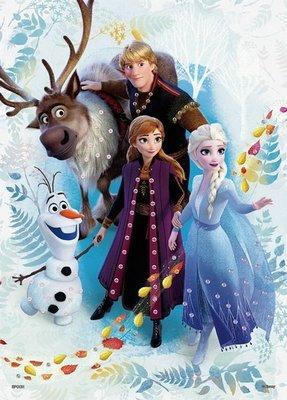 日本進口拼圖專賣店_500片 寶石裝飾DIY拼圖 迪士尼 Frozen 2 冰雪奇緣2 安娜與艾莎 74-012