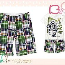 【B& G童裝】正品美國進口Crazy8  綠藍格子拼布圖樣男童短褲7,8,10號6-7-8-9yrs