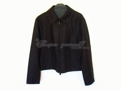 法國 HERMES 愛馬仕 CASHMERE 喀什米爾羊絨 外套 雙面穿 領子可拆 外衣