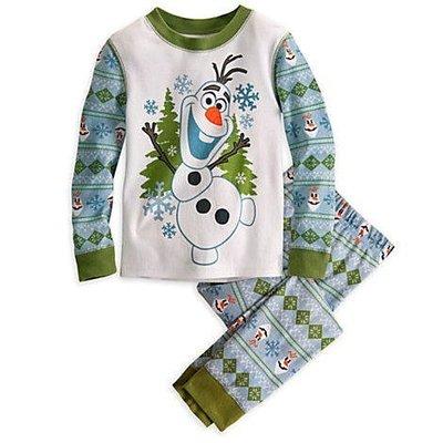【KIDS FUN USA】迪士尼Frozen冰雪奇緣 Olaf 雪人雪寶薄款衣褲/休閒居家服(3號)美國原裝 附吊牌