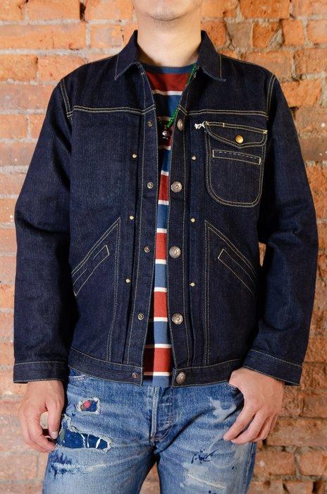 牛仔偵探 MT HILL布邊丹寧夾克 胸前銀扣 修身剪裁 超水準問市