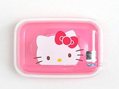 大賀屋 HelloKitty 肥皂盒 皂盒 收納盒 收納 肥皂 透明盒 粉 KT 凱蒂貓 日貨  T00110087