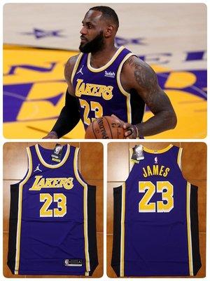 Lebron James NBA NIke 湖人隊球衣 LBJ Jordan標 球員版 AU