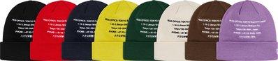 全新商品 Supreme 19FW Beanie 刺繡 毛帽 針織帽