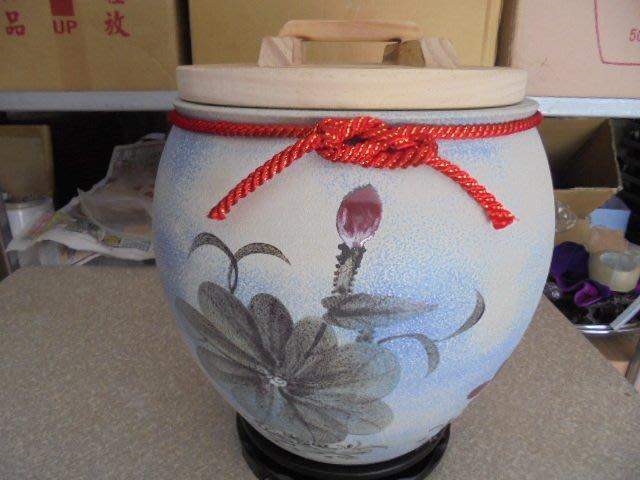 頂級荷花石頭釉、15斤 米甕 1880元、米缸、米桶、聚寶盆、茶葉罐