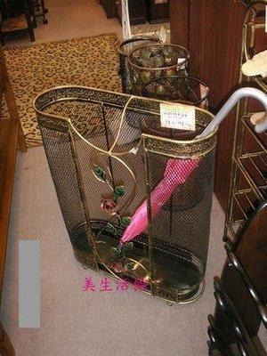 美生活館-- 鍛鐵玫瑰花橢圓傘桶