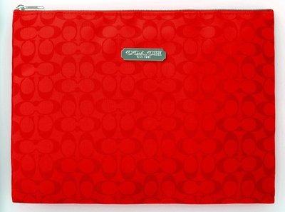 ☆Juicy☆日本mook品牌雜誌附錄附贈 COACH 馬車 手拿包 化妝包 收納袋 筆袋 小物包 2422紅