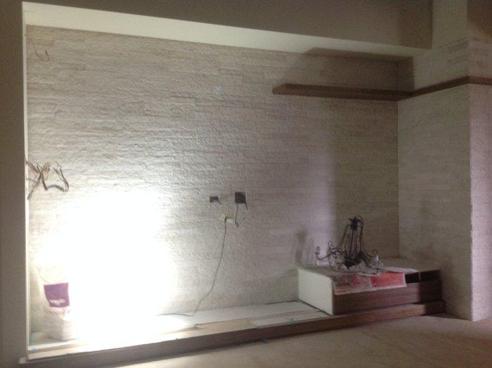 TKS台中市北區光南精緻工程行 ~特別訂製5x40(4色)大理石細溝丁掛工程