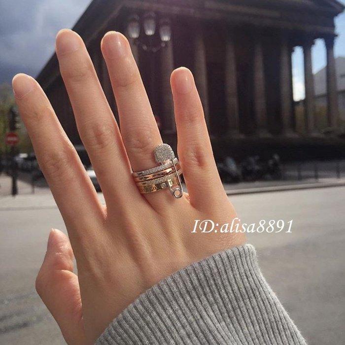 apm monaco戒指 925純銀別針指環 時尚潮流個性女款戒指 女生飾品 情人節禮物