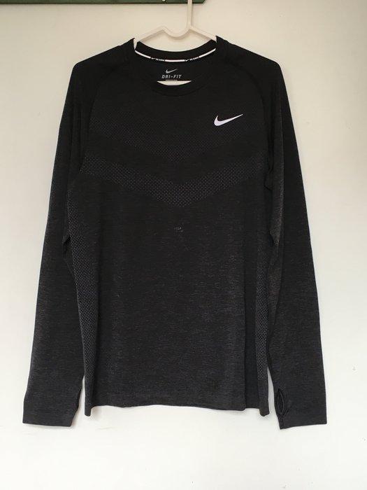 NIKE MENS RUNNING 黑 長袖 排汗 透氣 網球 籃球 慢跑 重訓 必備 642125-010 拍賣最低價