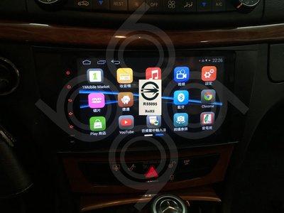 Benz E350 W211 -9吋安卓專用機.Android.觸控螢幕.usb.導航.網路電視.公司貨保固一年