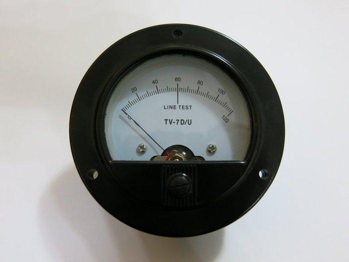 TV-7 真空管測試機.測管機錶頭