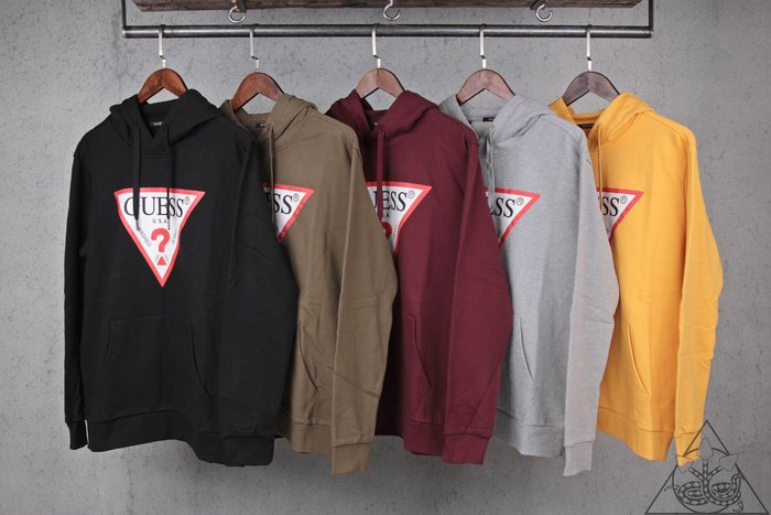 【HYDRA】18FW Guess Classic Logo Hoodie 帽T 倒三角 【GES03】