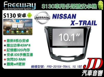 【JD 新北 桃園】FREEWAY NISSAN X-TRAIL 15 DVD/數位/導航 10.1吋 S130。安卓機