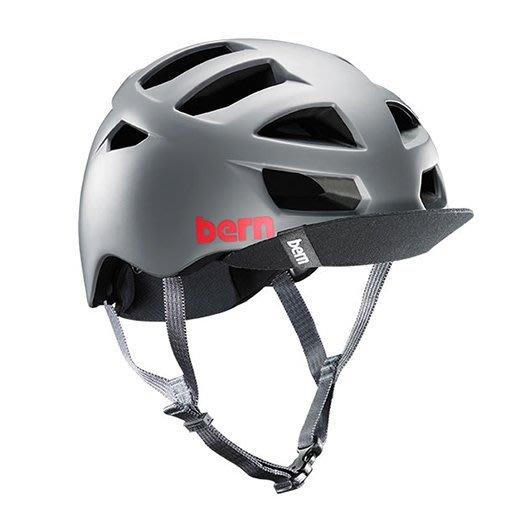 (Bern) 美國成人自行車安全帽 bern helmet  ALLSTON 灰 (售價3500元)
