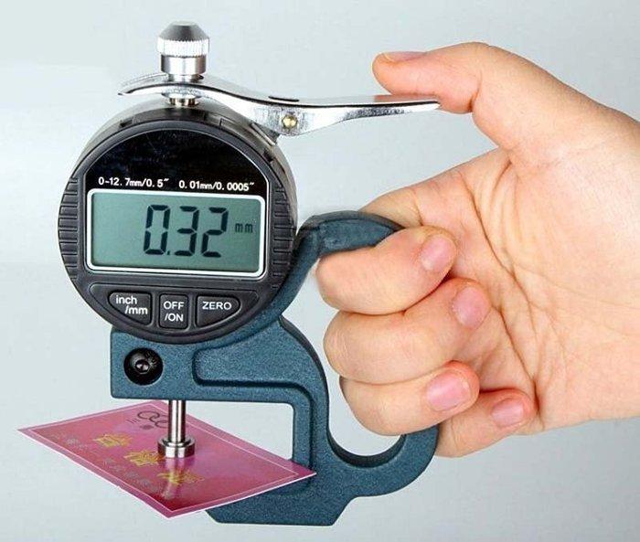 【奇滿來】【百分數顯測厚規】電子數位式測厚儀  厚度規/測厚儀 0.01mm 測量 布料 皮革 薄膜 紙張 AEBP