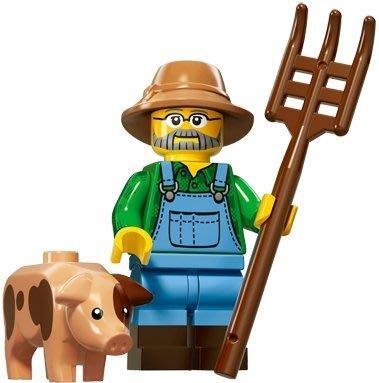 現貨【LEGO 樂高】積木/ Minifigures人偶系列: 15 代人偶包抽抽樂 71011 |  農夫 + 小豬