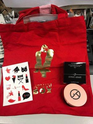 新品My Armani To Go Essence-In-Foundation Tone-up Cushion 連 uri tote bag and stick