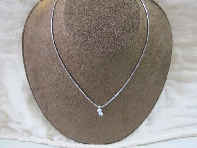 二手舖 NO.779 鋼飾 水鑽造型項鍊 非真鑽