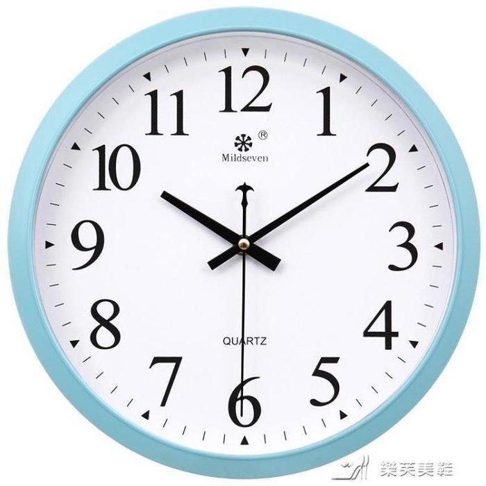 YEAHSHOP 圓形時尚掛鐘創意簡約客廳電子鐘表靜音現代Y185