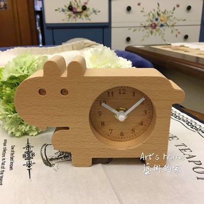 藝術的家生活雜貨傢飾家具-木質河馬造型時鐘