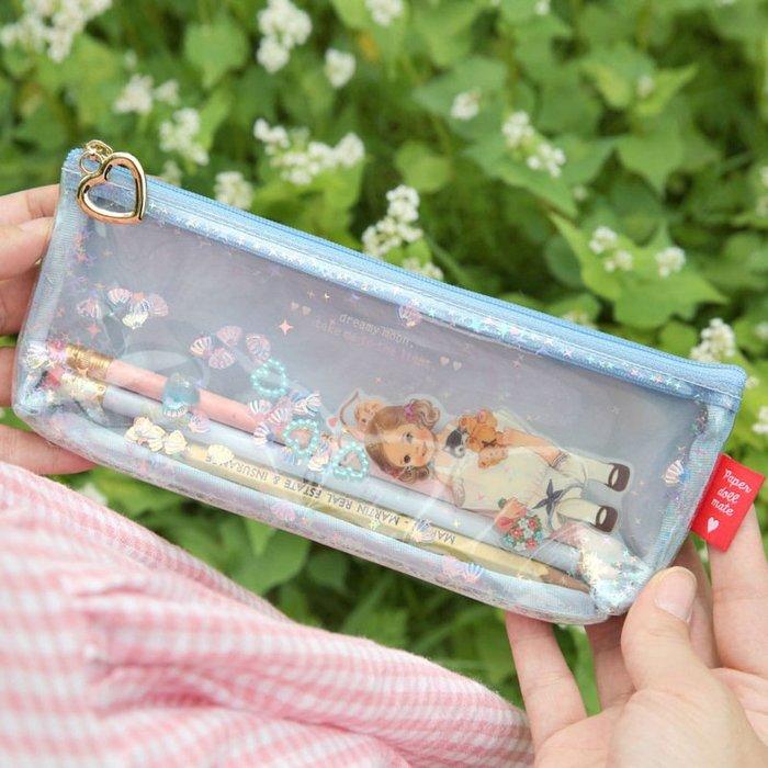 好心情日韓正品雜貨『韓國 Afrocat』Glitter pouch.P 洋娃娃亮晶晶筆袋~三款
