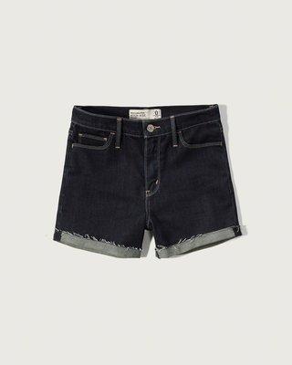 【天普小棧】Abercrombie&Fitch A&F High Rise 4 inch Shorts牛仔短褲25腰
