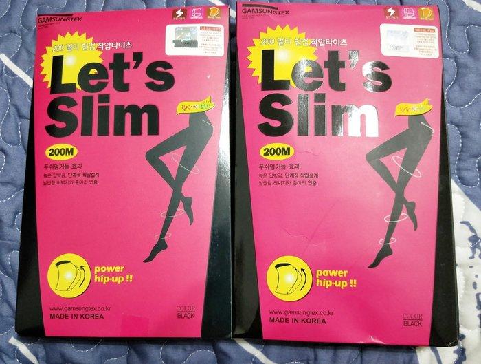 ☆黑貓易利購☆【003】韓國Let's Slim瘦腿襪 提臀修腿襪 200M