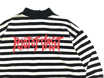 ☆LimeLight☆ VAST RIOT OF VAST STRIPE HIGH NECK LS 條紋 薄長袖