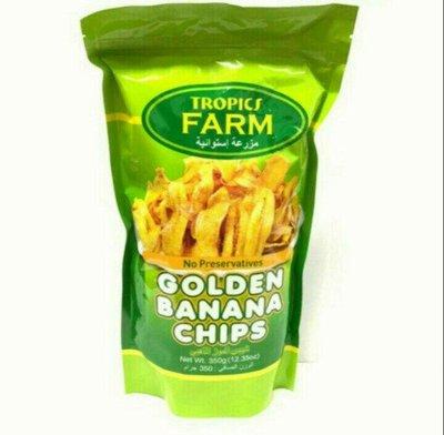 菲律賓 TROPICS FARM 香蕉脆片/1包/350g