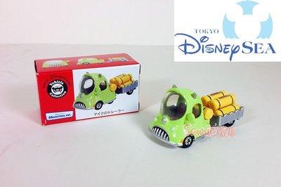 《東京家族》東京迪士尼樂園限定 怪獸電力公司大眼仔 TOMY公仔小汽車 貨運聯結車