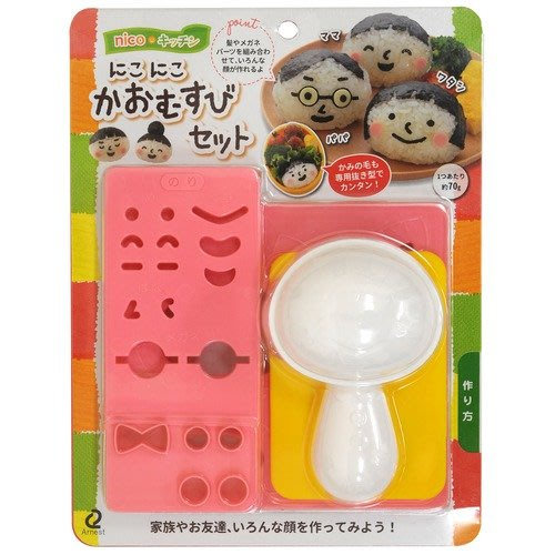 《散步生活雜貨-廚房散步》日本進口 Arnest - nico 人臉模型 家人/好友/笑顏 飯糰製作組 A-76817
