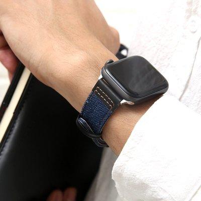 適用iwatch表帶真皮applewatch12345代蘋果手表表帶替換帶女38mm42男44mm40潮新款ip