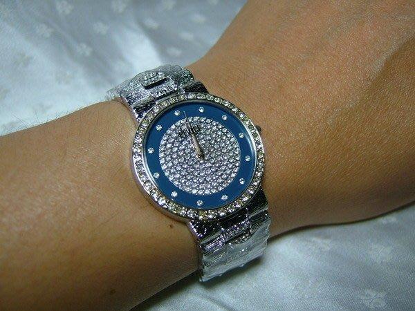 全心全益低價特賣*伊陸發鐘錶百貨*男錶伯卡藍天晶鑽手表 *提高身份.地位.增加自信心
