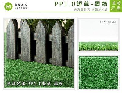 【草皮達人】 人工草皮PP-1CM 墨綠色 每平方公尺NT160元(每才不到15元含稅價) 塑膠地毯