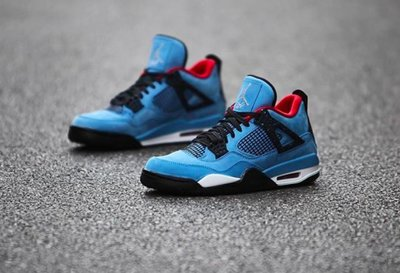 尾款賣場Travis Scott Nike Jordan 4 Cactus Jack喬丹308497-406北卡藍AJ4