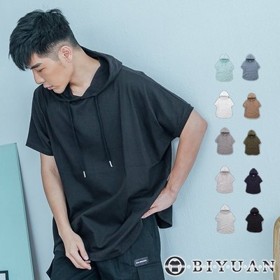 寬鬆衣服 短袖帽T【OBIYUAN】 ...
