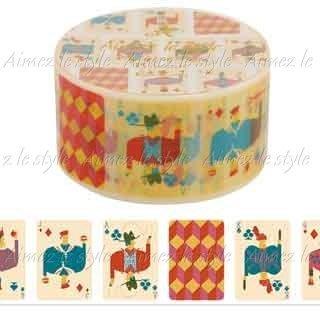 【R的雜貨舖】紙膠帶分裝  Aimez le style 撲克牌フェイスカード 1單位=50cm