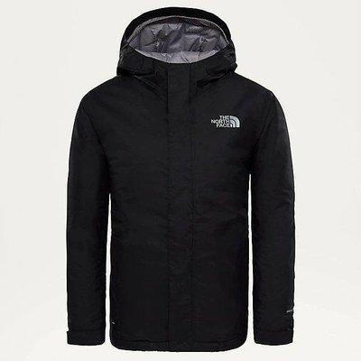 「i」【現貨】The North Face 黑 Youth Snowquest 青少年 保暖防水透氣 滑雪 連帽風衣夾克