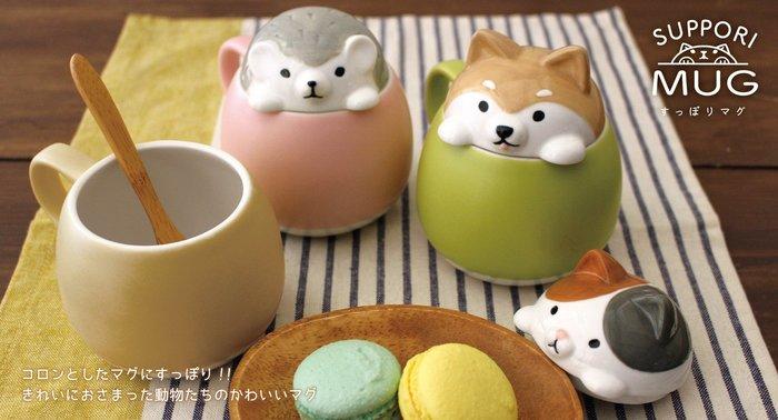《齊洛瓦鄉村風雜貨》獨家搭配 現貨日本DECOLE 日本正版 馬克杯造型 附正版皮卡丘湯匙 糖罐 鹽罐 柴犬 貓咪 刺蝟
