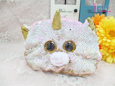 ☆[Hankaro]☆歐美流行爆款獨角獸造型亮片化妝包