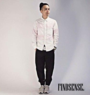 韓國  大線條粉色 襯衫 條紋 粗線條...
