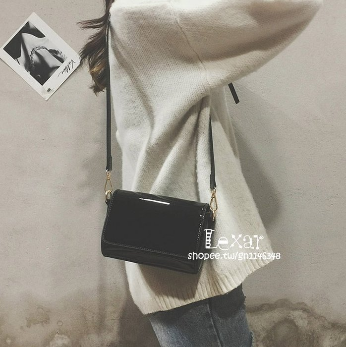 包包女新款女包韓版潮漆皮亮面迷你包小包百搭簡約單肩斜挎包