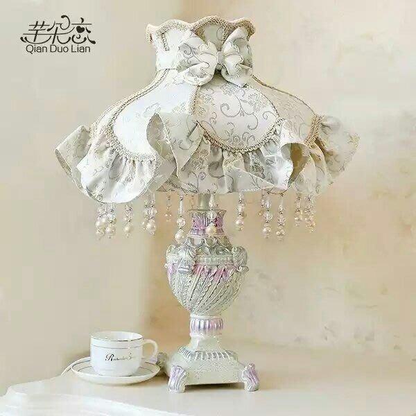 粉紅玫瑰精品屋~歐式主卧室床頭奢華客廳婚慶檯燈~