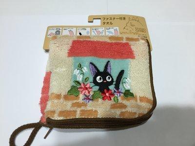 日本 黑貓宅急便 窗邊小花 毛金布收納袋