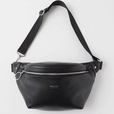全新黑色Moussy腰包郵差包