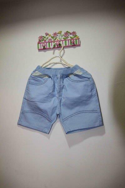 韓版水藍色短褲