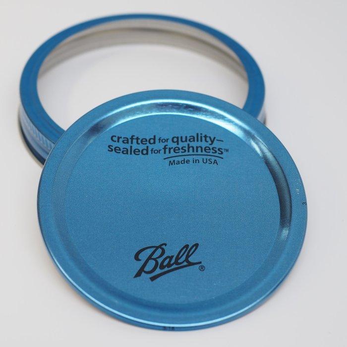 【Sunny Buy 生活館】◎現貨◎ Ball 梅森罐 寬口藍色蓋二入 果醬罐 收納罐 梅森瓶 密封罐