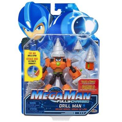 洛克人 Mega Man Fully Charged 鑽頭人 可動公仔~請詢問庫存
