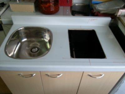 套房專用、水槽、廚具、流理台、不鏽鋼水槽(含挖電陶爐孔、檯面爐孔)